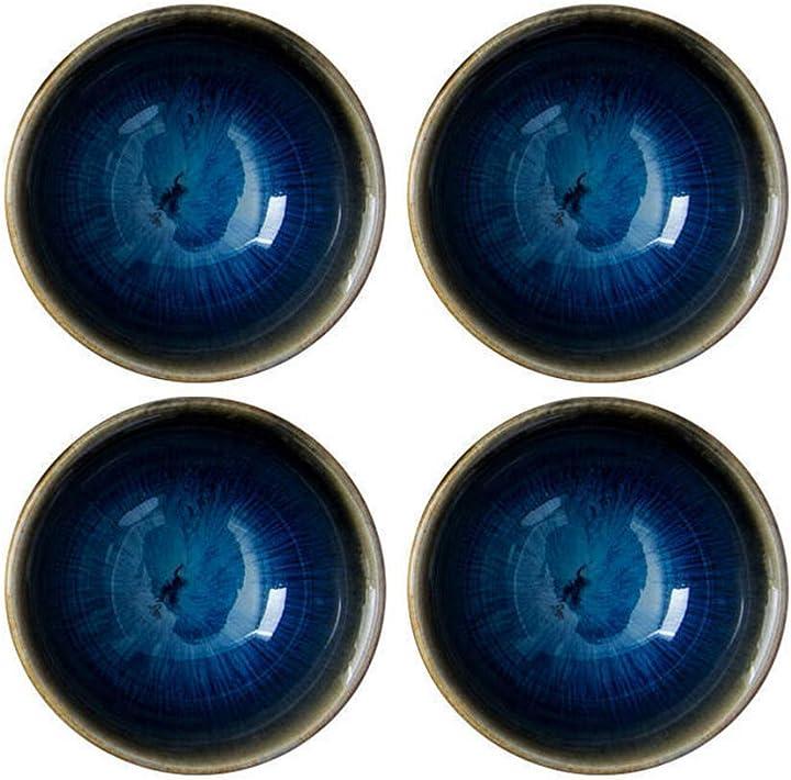 Set di 4 ciotole in ceramica, per sushi, frutta, aperitivo, dessert   - amosfun 09P4211XP5FY2