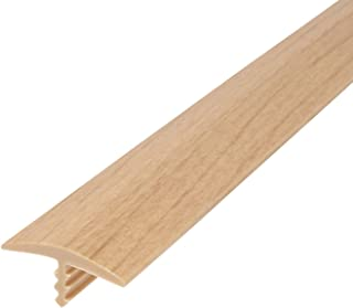 Outwater Plastic T molding 3/4 Inch Wide Natural Maple Woodgrain Flexible Polyethylene Center Barb Tee Moulding 250 Foot Coil Commercial Pack