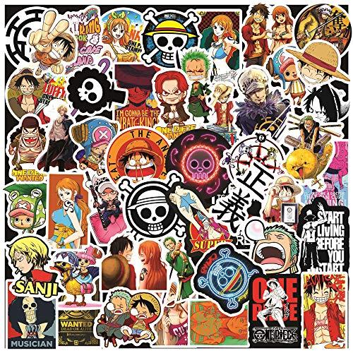 100Pcs One Piece Stickers Pack for Laptop  Nami Zoro Ace Luffy Chopper One Piece Anime Graffiti Waterproof Vinyl Stickers for Teens Adults DIY Laptop Water Bottle Skateboard Bike Book Travel Case