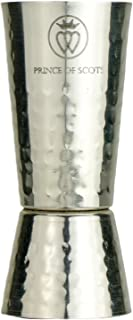 Prince of Scots Hammered Japanese-Style Double Sided Cocktail Jigger ~ Pure Silver Plate