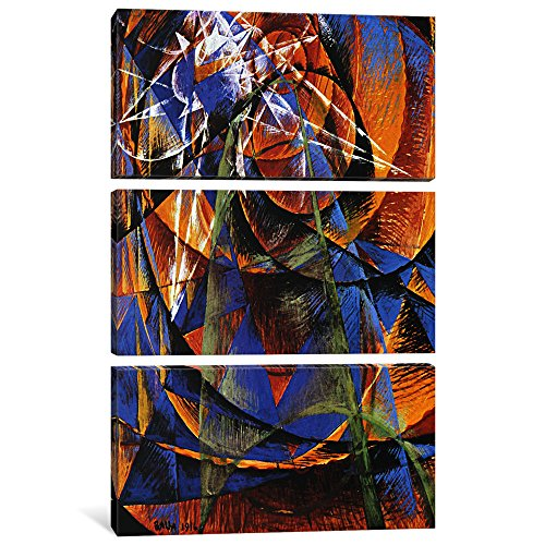 "iCanvasART 3 Piece Planet Mercury passing in front of the Sun Canvas Print by Giacomo Balla, 60"" x 40""/1.5"" Depth"