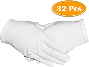 16 Pairs White Cotton Gloves 8