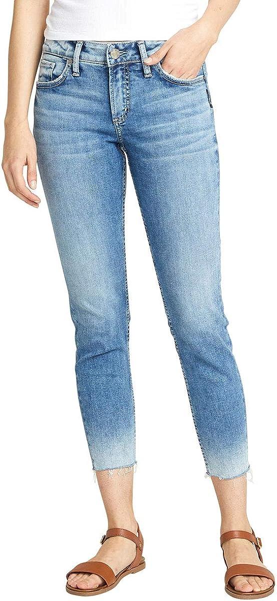 Silver Jeans Co. Women's Elyse Curvy Crop おすすめ特集 Jean Fit 付与 Mid Rise