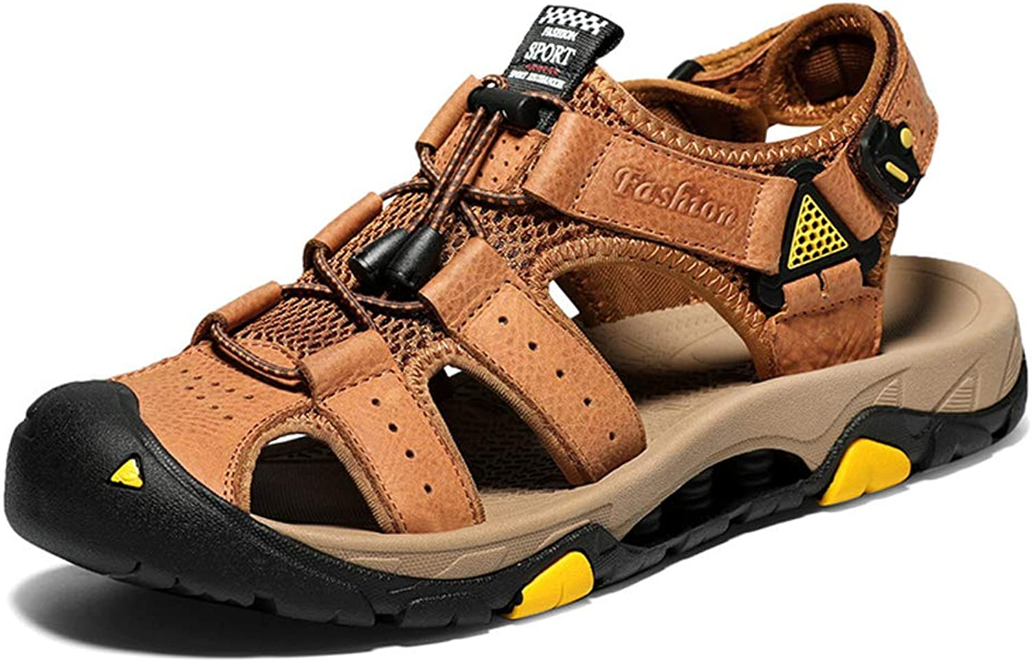 TYX-SS Breathable Leather Men'S Sandals Beach shoes Sandals And Slippers