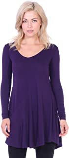 Women's Tunic Tops for Leggings Long Sleeve Shirt Plus Size Made in USA
