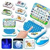Abilieauty Ordenador portátil chino, aprendizaje inglés para bebés, niñas y niños