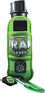 Trail Saver Pepper Spray for Hiking and Camping - Police Grade Strength - for Dogs & Wild Animals - Complete Safety Package with Compass, LED Light, Safety Whistle and Climbing Clip