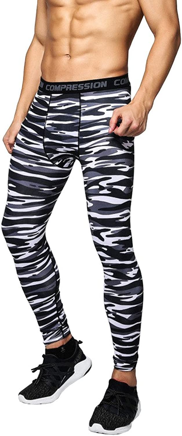 1Bests Men and Youth Boy Sports Fitness Compression Running Pants QuickDrying Breathable Tight Long Leggings