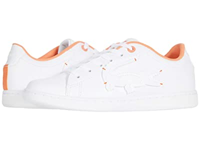Lacoste Kids Carnaby Evo 0320 1 SUC (Little Kid) (White/Orange) Kid