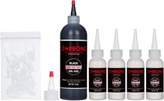 Starbond KBL-500 Black Medium Thick, Premium Rubber Toughened CA - Super Glue Kit with Extra Bottles, Caps, and Microtips (Woodworking, Filling Knots & Voids, RC Car Tires, Speaker Repair) (16 Ounce)