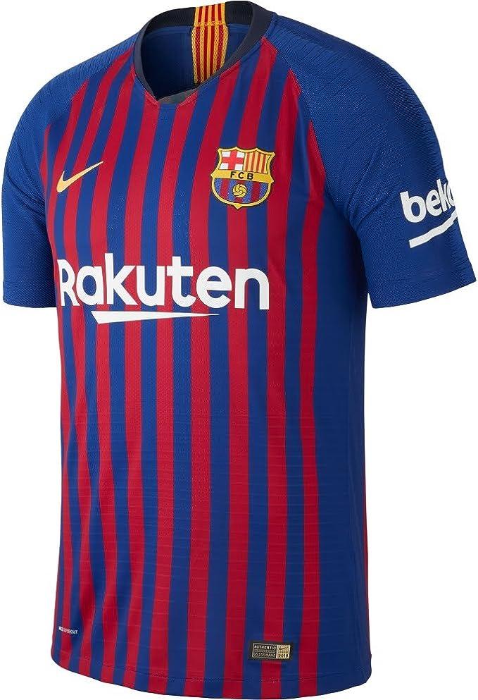 Nike 2018-2019 Barcelona Vapor Match Home Football Soccer T-Shirt Maglia