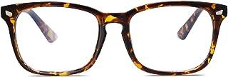 SOJOS Blue Light Blocking Glasses Square Eyeglasses Frame Anti Blue Ray Computer Game Glasses for Women Men Crazy Work SJ5028 with Yellow Tortoise Frame/Anti-Blue Light Lens