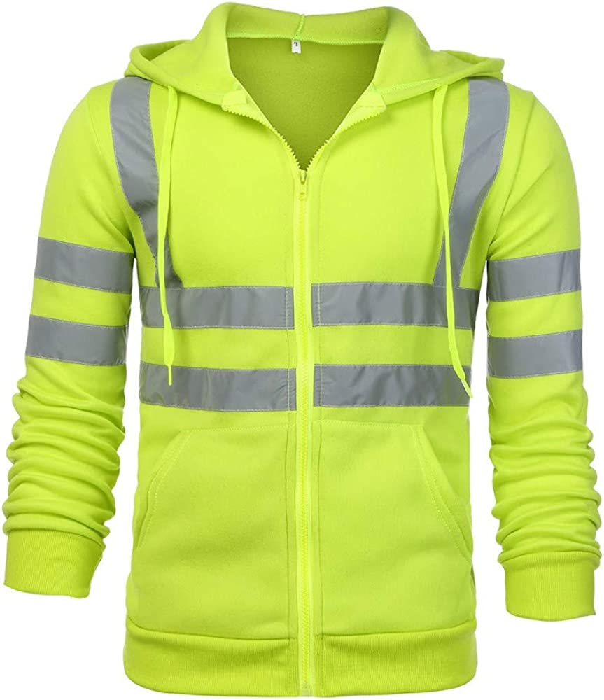 Fastbot Men's Blend Sweatshirt Washington Mall VisibilityPullover Road High Work We OFFer at cheap prices
