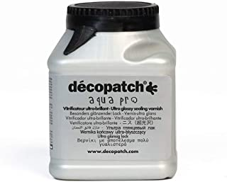 Décopatch VAUB180AO - Un pot de Vernis vitrificateur aquapro 180 ml, aspect Brillant