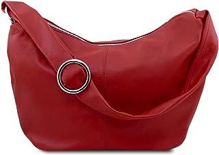 Yvette Soft leather hobo bag Red