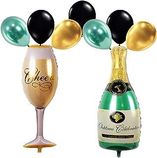 Propsicle Helium Foil Cheers Wine Glass Balloon Champagne Bottle Balloon 2 Golden Balloon 3 Black Balloon 2 Green Balloon ...