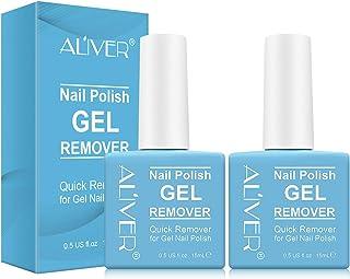 Aliver Gel Nail Polish Remover 2 Pack, Easily & Quickly Removes Soak-Off Gel Nail Polish, Professional Nail Polish Remover...