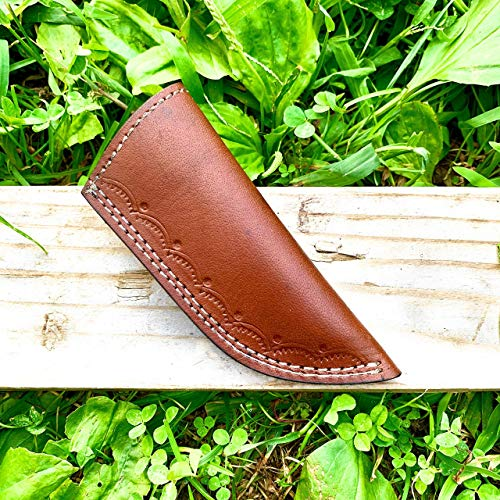 5' long handmade leather sheath for Fixed blade knife