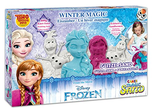 CRAZE-Kinetischer Spielsand The icequeen Magic Sand Frozen Box 54230-Arenas cinéticas para interior (600 g), color azul 54230 , color/modelo surtido