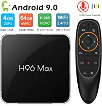 NewPal TV Box, H96MAX X2 Android 9.0 TV Box with Voice Remote 4G 64G 4K Stream Media Player Support 2.4G/5G WiFi