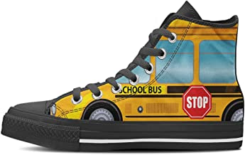 Gnarly Tees Men's School Bus Shoes High Top
