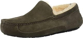 UGG Australia Men's Leather Ascot Slipper (Black/China Tea,12B)
