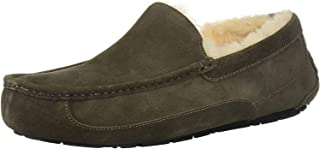 UGG Australia Men's Leather Ascot Slipper (Black/China Tea,12B)