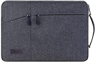 """XISICIAO 12.3"""" Laptop Sleeve Case for Microsoft Surface Pro 7/6/5/4, Ultraportable Polyester Vertical Style Handle Carrying Handbag Briefcase with Pocket Compatible MacBook Pro 11.6"""". (drak Gray)"""