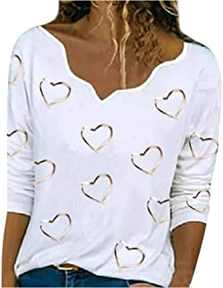 Higlles Beste Freunde Pullover Damen Kapuzenpullover Sweatshirt Herbst Winter Langarm für Frauen mit Motiv Herzdruck Asymmetrischer Hals Pullover Langarm T-Shirt Top Bluse Hemd