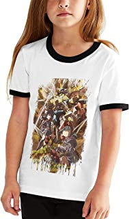 Little Witch Academia Cotton Girls Boys T Shirt Children Youth Contrast Color Stylish Tops Black