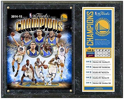 "NBA Golden State Warriors 2015 Finals Champions Photo Plaque (Size: 12"" x 15"")"
