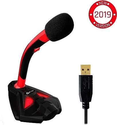 ⭐️KLIM Voice Microfono Desktop USB con Stand per Computer Laptop PC - Microfono Gaming Videogiochi PC PS4 Rosso [ Nuova Versione 2019 ] - Trova i prezzi più bassi