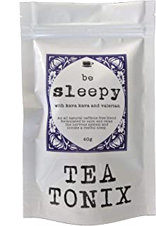 BE Sleepy Relaxing Bedtime Tea with Valerian, Kava Root, Chamomile, and Lavender 40g - for Relaxing, Calming The Nervous System, and Promoting a Restful Sleep