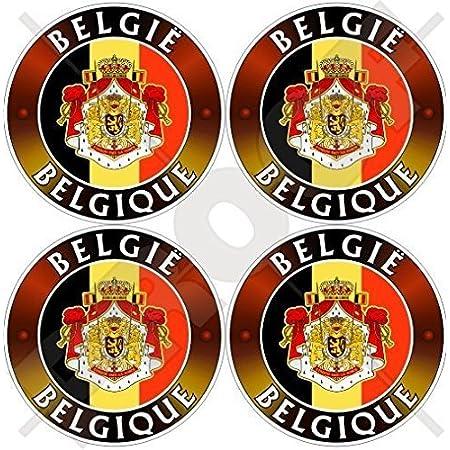 Akachafactory Aufkleber Sticker Autoaufkleber Wappen Schild Flagge Flaggen Fahne Belgien Auto