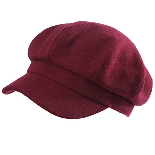 Siggi Womens Wool Blend Visor Beret Newsboy Cap Baker Boy Hats for Ladies 680ca991e6e