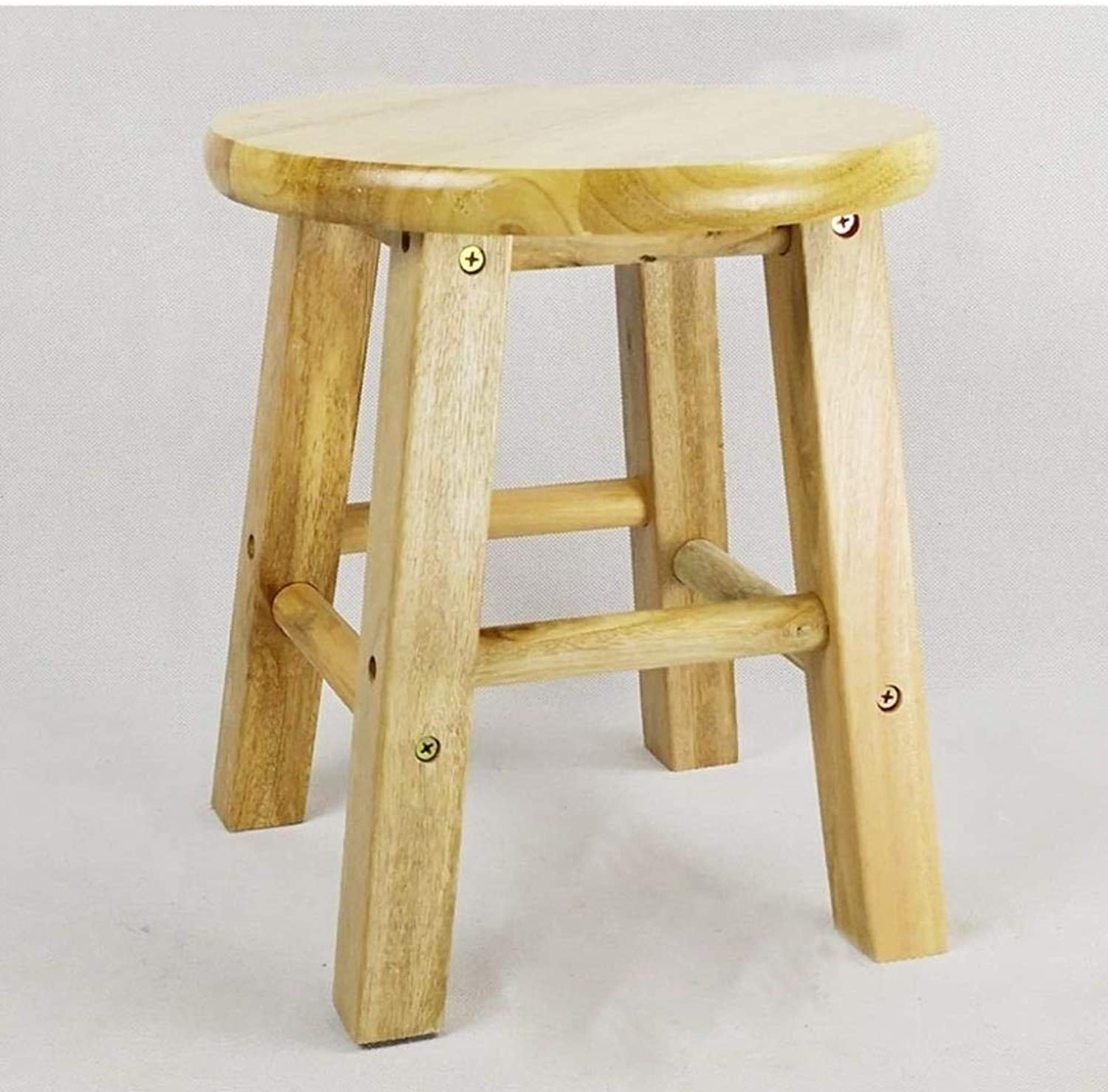 Solid Wood High Stool Small Stool High Stool Step Stool Bar Table Chair Small Wooden Bench High Bench Wooden Bench Wood Bench Home 25×2×25cm, 25×2×30cm ZXMDMZ (color   C)