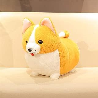 Zvivi Plush Pillow Smile Corgi Doll Plush Toy Cute Naughty Dog Ragdoll Holding Sleeping Pillow,tongueout,13''11''