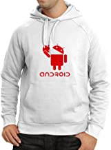 lepni.me Hoodie Android Eating The Apple -I Love Cool Tech Gadgets, Geek Nerd Humor