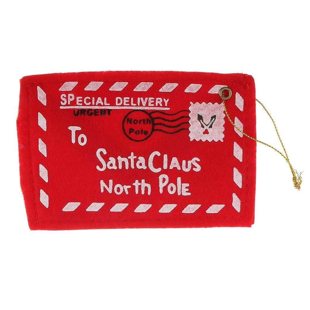 冷蔵庫ベーコン上げるLovoski フェルト製 クリスマス 手紙封筒 サンタ クロース 刺繍 クリスマス ツリー 装飾  赤