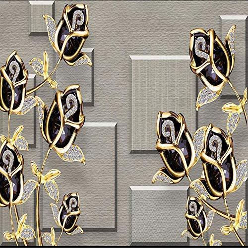 Steaean Benutzerdefinierte Coole Tapeten Beliebiger Größe 3D-Luxus Geprägte Stereoanlage Kann Angepasst Werden, 250 * 175 cm