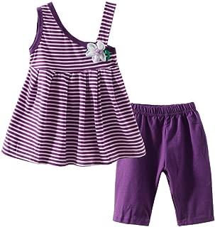 Barro Reino bebé hombro vestido de las niñas y Shorts Outfit Purple