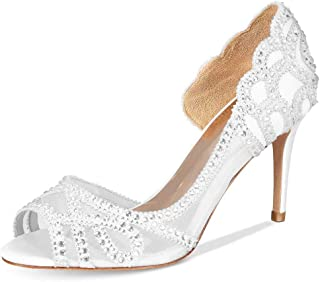 Details about  /Womens Crystal Fashion Pointy Toe Stilettos Wedding Party Cocktail Shoes 34//45 L