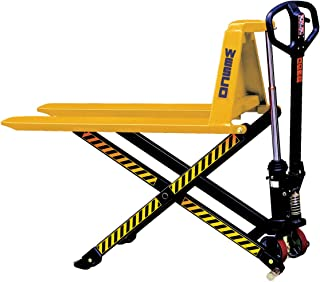 """Wesco Industrial Products 272975 Manual High Lift Telescoping Pallet Truck with Loop Handle, 3,300-lb. Load Capacity, 20"""" x 63"""" x 48.5"""""""