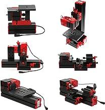 Mini bricolaje 6 en 1 Transformador motorizado multifuncional Máquina multiusos Jigsaw Grinder Taladro Torno de metal de madera Torno de madera Perforación Lijado Torneado Fresado Fresado Equipo de