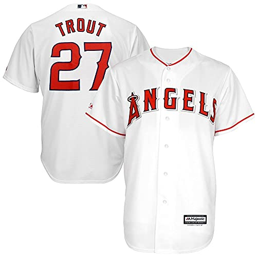 29aeb0211 Majestic Mike Trout Los Angeles Angels of Anaheim MLB Youth White Home Cool  Base Replica Jersey