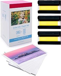 Carta fotografica Selphy KP-36IN 1 cassetta di inchiostro a colori 36 fogli compatibile con le stampanti fotografiche Canon Selphy serie CP1300 CP1200 CP1000 inchiostro e carta formato cartolina