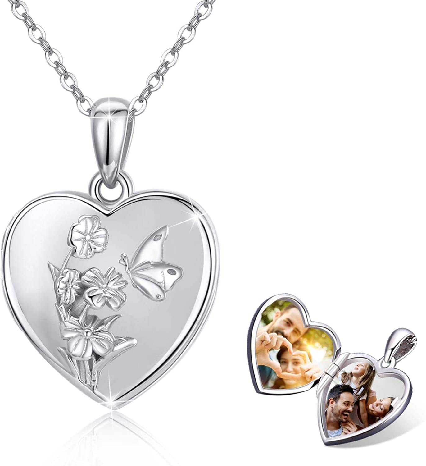 Butterfly Heart Locket Necklace That 2021 Sterling At the price Photos Hold 2 925