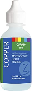 Taste N' Score | Copper | Liquid Mineral Supplement & Assessment Kit | Easy to Mix into Drinks & Smoothies | 100% Pure Min...