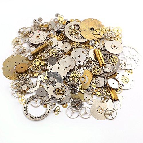 50 Gramm Metall Steampunk Anhänger Charms DIY Uhr Reparatur Teile Gears Schmuck Kunst Handwerk Zahnräder Räder