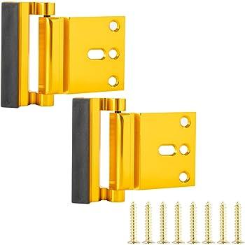 AmazonBasics Door Reinforcement Lock - 2-Pack, Polished Brass